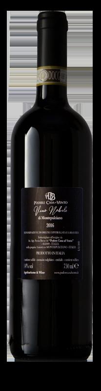 retro etichetta vino nobile di Montepulciano
