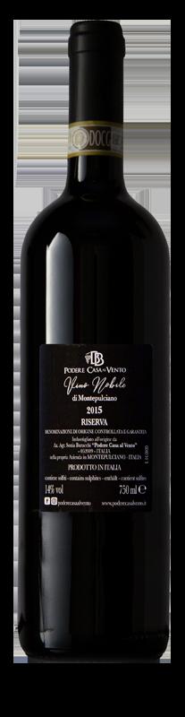 retro etichetta vino nobile 2015