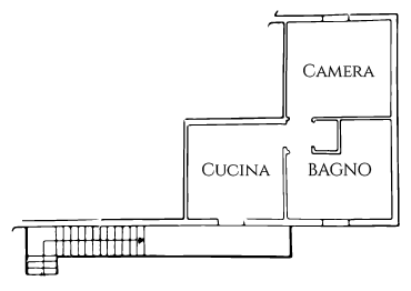 piantina appartamento tramontana
